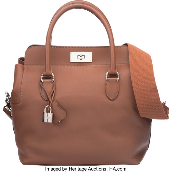 6d09aff4b58 ... Luxury Accessories Bags, Hermes 26cm Marron d Inde Swift Leather  Toolbox Bag with ...