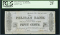 Obsoletes By State:Virginia, Yorktown, VA- Pelican Bank of the Peninsula 50¢ Oct. 1, 1861 . ...