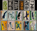 Non-Sport Cards:Lots, 1952 Topps Wings and 1954 Topps License Plates Collection (191),plus 24 other Non-Sport Cards. ...