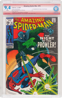 The Amazing Spider-Man #78 Verified Signature (Marvel, 1969) CBCS NM 9.4 White pages