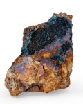 Minerals:Miniature, Clinoclasite. Majuba Hill Mine (Majuba Mine; Mylar Mine; Tin Mine; Nevada Bureau of Mines and Geology sample sites 2844 & ...