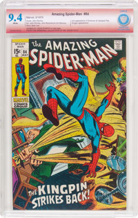 The Amazing Spider-Man #84 Verified Signature (Marvel, 1970) CBCS NM 9.4 White pages