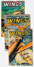Golden Age (1938-1955):War, Wings Comics Group of 4 (Fiction House, 1941-49).... (Total: 4Comic Books)