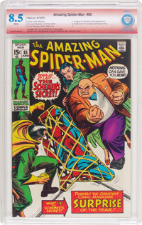 The Amazing Spider-Man #85 Verified Signature (Marvel, 1970) CBCS VF+ 8.5 White pages