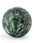 Lapidary Art:Eggs and Spheres, Serpentine Sphere. Russia. 1.50 inches (3.81 cm) indiameter. ...