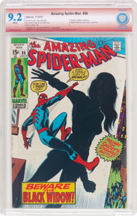 The Amazing Spider-Man #86 Verified Signature (Marvel, 1970) CBCS NM- 9.2 White pages