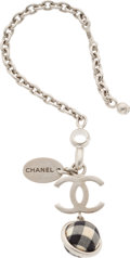 "Luxury Accessories:Accessories, Chanel Brushed Silver Marina Bay Sands Charm . Very GoodCondition. 0.5"" Width x 5"" Length. ..."