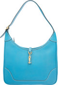Luxury Accessories:Bags, Hermes 31cm Blue Jean Togo Leather Trim II Bag with Gold H...