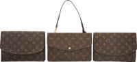 "Louis Vuitton Set of Three; Classic Monogram Canvas Pouches Very Good Condition 9.5"" Width x 6"" Height x 1&quo..."