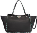 "Luxury Accessories:Bags, Valentino Black Leather Rockstud Bag. Excellent to PristineCondition. 13"" Width x 9"" Height x 4.5"" Depth. ..."