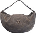 """Luxury Accessories:Bags, Chanel Gray Quilted Caviar Leather Shoulder Bag. Good Condition.17"""" Width x 10"""" Height x 5"""" Depth. ..."""