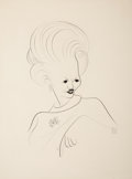Fine Art - Work on Paper:Drawing, Al Hirschfeld (American, 1903-2003). Portrait of a Woman.Ink on paper. 29 x 21-3/4 inches (73.7 x 55.2 cm) (sheet). Sig...