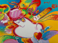 Peter Max (American, b. 1937) Flower Blossom Lady Acrylic on canvas 30 x 39-1/2 inches (76.2 x 10