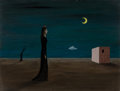 Fine Art - Painting, American:Modern  (1900 1949)  , Gertrude Abercrombie (American, 1908-1977). Untitled, 1947.Oil on Masonite. 8 x 10 inches (20.3 x 25.4 cm). Signed and ...