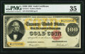 Large Size:Gold Certificates, Fr. 1214 $100 1882 Gold Certificate PMG Choice Very Fine 35.. ...