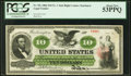 Large Size:Legal Tender Notes, Fr. 93c $10 1862 Legal Tender PCGS About New 53PPQ.. ...