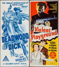 """Movie Posters:Western, Deadwood Dick & Other Lot (Columbia, 1940). Australian Daybills(9) (Approx. 13"""" X 30""""). Western.. ... (Total: 9 Items)"""