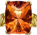 Estate Jewelry:Rings, Citrine, Yellow Beryl, Gold Ring, Frank Ancona. ...
