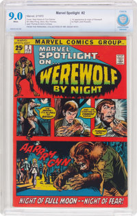 Marvel Spotlight #2 Werewolf by Night (Marvel, 1972) CBCS VF/NM 9.0 White pages