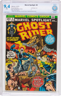 Marvel Spotlight #9 Ghost Rider (Marvel, 1973) CBCS NM 9.4 White pages