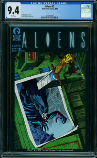 Aliens #2 (Dark Horse, 1988) CGC NM 9.4 WHITE pages