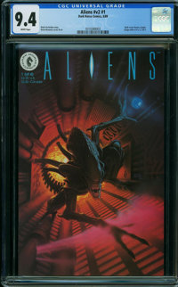 Aliens V2#1 (Dark Horse, 1989) CGC NM 9.4 WHITE pages