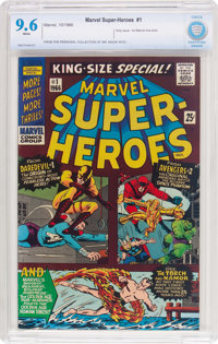 Marvel Super Heroes #1 (Marvel, 1966) CBCS NM+ 9.6 White pages