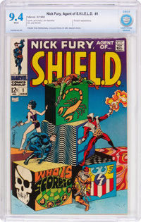 Nick Fury, Agent of S.H.I.E.L.D. #1 (Marvel, 1968) CBCS NM 9.4 White pages
