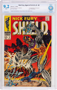 Nick Fury, Agent of S.H.I.E.L.D. #2 (Marvel, 1968) CBCS NM- 9.2 White pages