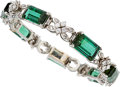 Estate Jewelry:Bracelets, Tourmaline, Diamond, Platinum, White Gold Bracelet . ...
