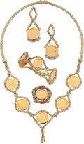 Estate Jewelry:Suites, Gold Coin, Gold Jewelry Suite. ... (Total: 4 Items)