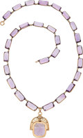 Estate Jewelry:Necklaces, Victorian Amethyst, Gold Necklace. ...