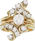 Estate Jewelry:Rings, Diamond, Gold Ring Set . ...