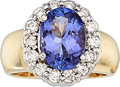 Estate Jewelry:Rings, Tanzanite, Diamond, Gold Ring. ...