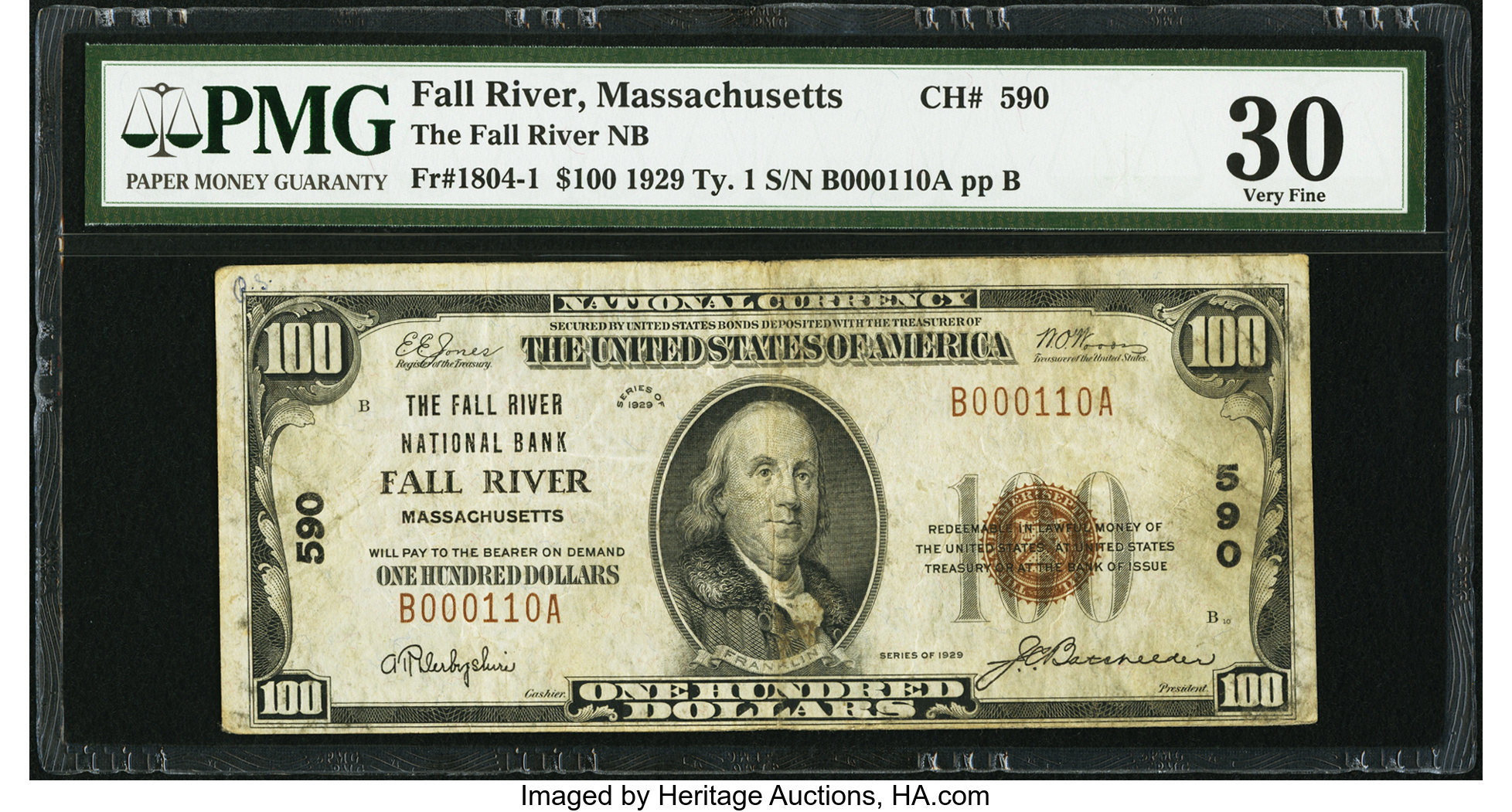Fall River, MA - $7 7 Ty. 7 The Fall River NB Ch. # 7