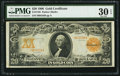 Large Size:Gold Certificates, Fr. 1185 $20 1906 Gold Certificate PMG Very Fine 30 EPQ.. ...