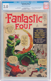Fantastic Four #1 (Marvel, 1961) CGC GD 2.0 Cream to off-white pages