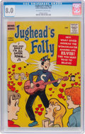 Silver Age (1956-1969):Humor, Jughead's Folly #1 (Archie, 1957) CGC VF 8.0 Off-white to white pages....