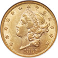 Liberty Double Eagles, 1865 $20 MS61 NGC....