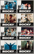 "Movie Posters:Academy Award Winners, Rocky (United Artists, 1977). Lobby Card Set of 8 (11"" X 14"") &Photo (8"" X 10""). Academy Award Winners.. ... (Total: 9 Items)"