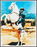 "Movie Posters:Western, Clayton Moore as The Lone Ranger (c. 1980s). Autographed ColorConvention Photo (8"" X 10""). Western.. ..."