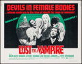 "Movie Posters:Horror, Lust for a Vampire (American Continental Films Inc., 1971). HalfSheet (22"" X 28""). Horror.. ..."