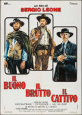 """Movie Posters:Western, The Good, the Bad and the Ugly (Titanus, R-1972). Italian 2 - Fogli(39"""" X 55""""). Western.. ..."""
