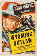 "Movie Posters:Western, Wyoming Outlaw (Republic, R-1953). One Sheet (27"" X 41""). Western....."