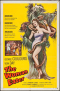 "Movie Posters:Horror, The Woman Eater (Columbia, 1959). One Sheet (27"" X 41""). Horror....."