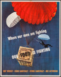"Movie Posters:War, World War II Propaganda (U.S. Government Printing Office, 1943).OWI Poster No. 35 (22"" X 28"") ""Where Our Men Are Fighting, ..."