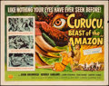 "Movie Posters:Horror, Curucu, Beast of the Amazon (Universal International, 1956). Half Sheet (22"" X 28"") Style B. Horror.. ..."