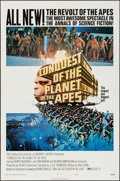 "Movie Posters:Science Fiction, Conquest of the Planet of the Apes (20th Century Fox, 1972). OneSheet (27"" X 41"") Style B. Science Fiction.. ..."