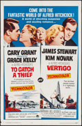 "Movie Posters:Hitchcock, To Catch a Thief/Vertigo Combo (Paramount, R-1963). One Sheet (27""X 41""). Hitchcock.. ..."