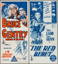 "Movie Posters:Serial, Bruce Gentry: Daredevil of the Skies & Others Lot (Columbia, 1949). Australian Daybills (6) (13"" X 30""). Serial.. ... (Total: 6 Items)"